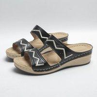 Slippers Summer Women's Beach With Elegant Slope Heel Vanny Factory Store