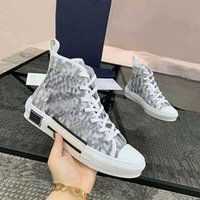 Classic Canvas Oblique Hombre Zapatos casuales US 13 para mujeres Moda Lace Up blanco y negro Top de calidad Sneaker con caja azul