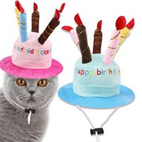 Dog Apparel Hat Pet Cat With Birthday Cake Cap Candle Gift Design Party Costume Headdress Baby Accessories Goods