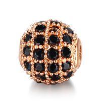 3pcs / lot cz spacer perle ronde 5mm 6mm 8mm 10mm 12mm laiton micro pavé de zircone cubique de zircone pour bijoux fabrication de bricoles de bricolage 2014 v2