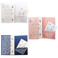 Greeting Cards 10pcs set Laser Cut Hollow Luxury Floral Wedding Invitations Card Elegant Lace Favor Print Party Decoration