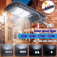 Solarlampen Augienb 560LED Straßenlaterne Wasserdichte IP65 PIR Motion Sensor Fernbedienung Außenbeleuchtung Sicherheitslampe 300W / 450W / 600