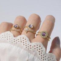 Cluster anelli di moda Brand Gioielli Elegante cristallo stella regolabile per le donne Opal Beaks Engagement Wedding
