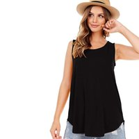 Women's Tanks & Camis O Neck Tank Tops Womens Summer Solid Color Blouse T-shirt Sexy Top Women 2021 Female Cropped Vest Fashion Casual #10