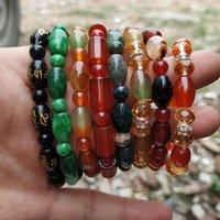 PI XIU Für Männer und Wom Rice Agate Indian Water Grasstranden, Strang Stein verbreitet Quelle Buddha Perle Girl Geschenk Oval Armband