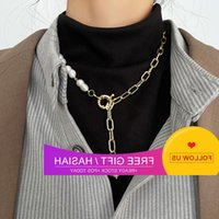 South Korean Baroque Shaped Pearl Pendant Chain Women's Clavicle Chain Indifference Simple Temperament Necklace
