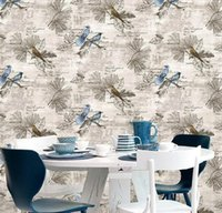 Blue Bird Contact Paper Vintage Removable Stick And Peel Self Adhesive Film Decor Wall Bedroom Shelf Drawer Liner Cabinet Wallpapers