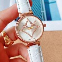 Orologio al quarzo di marca per le donne Lady Girl Crystal Flower Style Style Cinturino da polso Orologi da polso L22