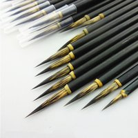 1 ADET Bakır Kafa Kanca Hattı Güzel Boya Fırçası Çin Kaligrafi Fırça Kalem Sanat Sabit Yağlıboya Fırçası