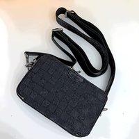 60 Top L Luxurys 디자이너 가방! 블랙 4 Blue414 체크 무늬 교차 바디 세련된 어깨 가방 크기 18.5 11 6.5 cm