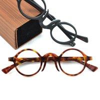 패션 선글라스 프레임 최고 품질 아세테이트 안경 프레임 남성 여성 수제 나무 안경 브랜드 빈티지 작은 라운드 광학 박스 323