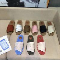 2021 Retro Brief Sandalen Schuhe Flops Echtes Leder Hausschuhe Casual Damen flache Slipper Sommer Outdoor Beach Loafer Party Urlaub Mode Frauen Schuh