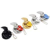 Mini Münze Tragbare Klappmesser Carry Tool Kleine Tasche Outdoor Survival Karambit Camping Edelstahl Hängende Schlüsselanhänger