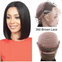 Lace Wigs Short Bob Wig Front Human Hair 360 Maxine Straight Cut Frontal For Women