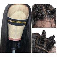 İnsan Saç Peruk Dantel Ön İnsan Saç Peruk 4 * 4 Dantel Kapatma Peruk Brezilyalı Düz Saç Peruk Siyah Kadınlar Için Fairgreat Dantel Frontal Peruk