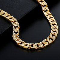 Fashion Miami Cuban Link Chain Gold Plated Fully Iced Out Hip Hop Bling Men Bracelet 6mm