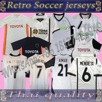 최고의 품질 New 2000 2001 2006 발렌시아 레트로 저지 홈 00 01 09 10 Awaor Camisetas Angulo Aimar Djukic Mendieta L.Milla 축구 셔츠