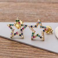 Серьги очарования 16 стилей Выбор красочный микро Pave CZ роскошный золотой цвет Raiow Gud для женщин-девочек мода партии украшения подарок