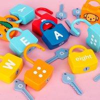 Çocuklar Öğrenme Kilitleri Oyuncak Tuşları Ile Numaraları Eşleştirme Sebze Montessori Eğitici Oyuncaklar için 3 YRS + Erkek Ve Kızlar Okul Öncesi Oyunlar Gif