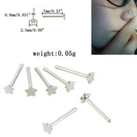 Nose Ring stud Piercing Jewelry body arts fake septum rings nosecuffs Goth Punk Lip Ear Clip On Stainless Steel Hoop Earrings pin gold