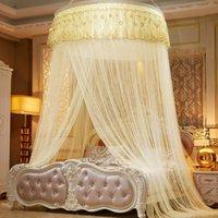 Hung cupola ingrandita zanzariera principessa atterraggio pizzo pizzo soffitto a soffitto aumento del letto densified Bed Bedcover cupola tenda tenda