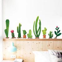 ملصقات الحائط الصبار النبات الأخضر غرفة المعيشة الديكور المنزل خلفيات الأطفال ملصقا