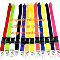 100pcs Cell phone lanyard Straps Clothing Sports brand for Keys Chain ID cards Holder Detachable Buckle Lanyards wholesale