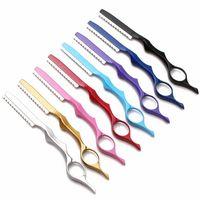 Ножницы для волос Professional Япония 440C 2 в 1 режущий парикмахерская Razor стрижка утончатые ножницы укладки инструменты парикмахерские