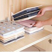 Hooks & Rails 10pcs Creative Household Folding Clothes Artifact Wardrobe Storage Board T-shirt Finishing Rack Anti-wrinkle