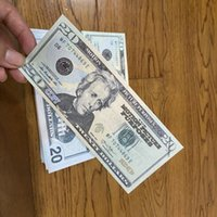 Movie prop money copy fake banknote 10 dollars toy currency Party children gift 1 2 5 20 50 100dollar ticket Bills for Kids