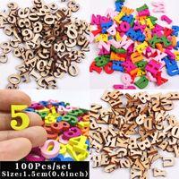 Novelty Items 100Pcs Cute Letters Numbers Wooden Alphabet Embellishments Scrabble Scrapbooking Craft Cardmaking Supplies DIY Digital Display