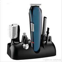 5 en 1 Trimmer del cabello Hombre eléctrico Kit de aseo de barba Afeitadora Narra Clipper Peluquería Letras Estilizador de corte de corte de pelo Peluquero