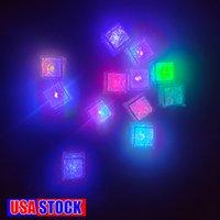 방수 LED 아이스 큐브 7 색 카페 바 클럽에 대 한 어두운 밤 조명에 빛나는 파티 와인 결혼식 장식