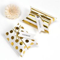Gift Wrap 5 10 20pcs Candy Box Wedding Gifts For Guests Chic Striped Pot Floral Printed Color Paper Baby Shower Cookie Bag Pillow