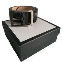 Moda Unisex Cinturón masculino Cuero genuino Cinturones de cuero de los hombres de alta calidad Hebilla suave hembra para mujeres Hip jeans 3.8-3.4-2.0cm con caja blanca
