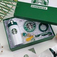 2021 Yeni Geldi Starbucks Kupası Paslanmaz Çelik Vakum Şişesi Su Kupası Paket Kutusu Ile En İyi Noel Hediyesi