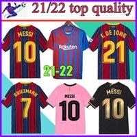 21 22 Barcelona Soccer Jersey Barca Camiseta de Futbol Ansu Fati 2021 2022 Messi Griezmann F.De Jong Dest Kit de camisa de fútbol Men + Kids Sets Socks