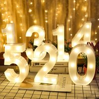 Creative Luminous Night Light 0-9 Digital Number Letter AA Battery Powered Lamp for Christmas Wedding Birthday Party Decor