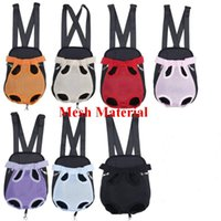 Dog Car Seat Covers Pet Carrier Front Chest Backpack Five Holes Outdoor Tote Bag Sling Holder Mesh Cat Puppy
