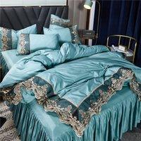 2021 Biancheria da letto bianca Set di biancheria da letto in pizzo Edge letto Queen Bed Comfort Set di cuscini di lusso Set di biancheria da letto king size Decorazione della casa 738 R2