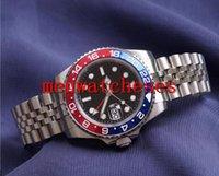 ساعة رجالي ساعة اليد السيراميك الأزرق الداكن حافة الفولاذ المقاوم للصدأ Watchee 116710 Automatic GMT Movement Limited Watche Jubilee Master