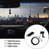 Car GPS & Accessories Radio Receiver In Antenna Digital DAB+ Adapter Aux Tuner Box Audio USB Android Decoding Radios