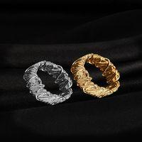 Стерлинговое серебро 925 шикарно Современное золоторослое кольца кольца нить накаливание регулируемое открытие персонализированные простые винтажные модные украшения