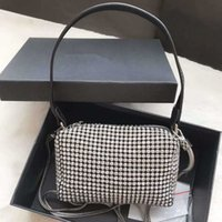 Wang бесплатные сумки Shimmerglitter Bling Bling Black Hrinestone Женщины Lady Glitter Diamond Вечерние Сумки Дизайнер Ужин Пакетная сумка B DNAIB