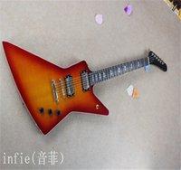 Venta al por mayor Electric 6 String Snakebyte Custom James Hetfield Rose Guitar Guitarra en stock