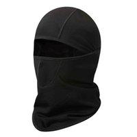 Хирбгод зимняя велосипедная шляпа черная полноценная маска для маски тепла теплый флис ветрозащитный открытый лыжный водонепроницаемый головной убор, tyc003-01