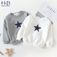 Boy'S Sweater Autumn Baby Round Neck Coat Keep Warm Five-Pointed Star Boys Girls Kids Children'S Clothing 210507