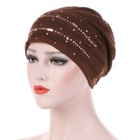 Katı Pamuk İç Kapaklar Yaz Ince Dantel Türban Yumuşak Glitter Müslüman Kadınlar Turbante Bonnet Wrap Baş Başörtüsü Atkı Kapağı altında