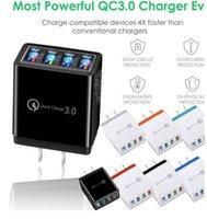 4 Port Fast Charge rapide QC 3.0 Hub USB HUB Chargeur 3.5A Adaptateur secteur UE / US Plug Chargeurs de la batterie de téléphone de voyage