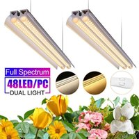 Grow Lights AC85-265V Light 50CM LED Full Spectrum Bar Tube Lamp Plantas Cultivation For Plants Jardin Greenhouse Hydroponics
